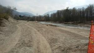 Ahrauen in St. Georgen 2017, gerodeter Auwald, vitaler und naturnaher Auwald wurden zerstört