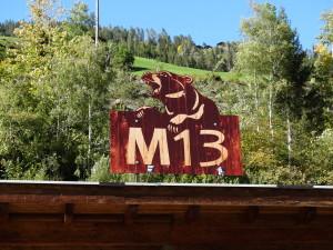 Restaurant M 13 im Ultental- benannt nach Bär M 13
